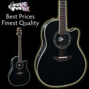 Ovation C2079AX 5 Custom Legend Black Acoustic Electric Guitar & 8158