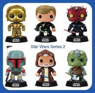 Funko Pop Star Wars SET OF 6 3.75 C 3PO, JEDI LUKE, OBI WAN, DARTH