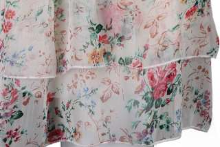 BOAT NECK FLORAL PRINT CHIFFON DRESS WITH SPAGHETTI STRAP 2287