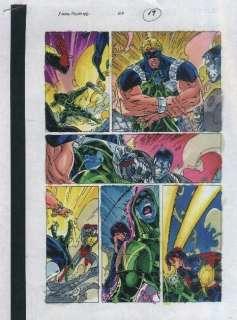 90s X MEN 29 ORIGINAL MARVEL COMIC BOOK COLOR GUIDE ART PAGECOLOSSUS