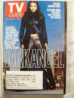 TV Guide Nov 25 Dec 1 2000 Dark Angel Jessica Alba