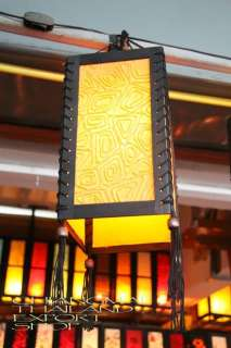 Yellow Asian Oriental Paper Pendant Ceiling Lamp light
