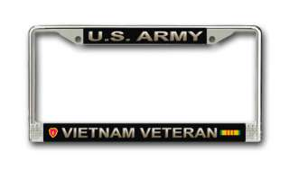 Army 25th Infantry Div Vietnam Veteran License Frame