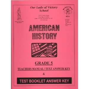 OLVS American History Teachers Manual & Test Answer Key