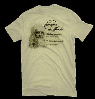 Leonardo Da Vinci T Shirt Blinding Ignorance Quote