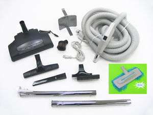 30 Super Deluxe Central Vacuum Power Head Hose KIT