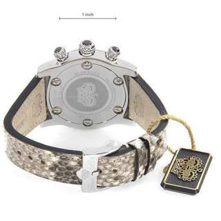 New Glam Rock watch. Swiss Made.Python leather Bracelet