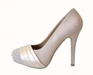 SUEDE & SATIN HIGH HEEL BRIDAL BRIDESMAID PROM PARTY SHOES 3 8
