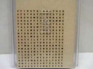 NEW Stampin Up WORD SEARCH Mounted Rubber Stamp Large Background