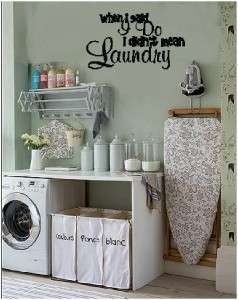 Laundry Wall Lettering Saying Wall Words Stickers Decal