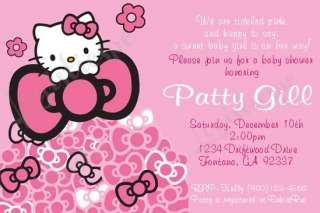 Hello Kitty Baby Shower Invitation U Print / Printed   6 Different