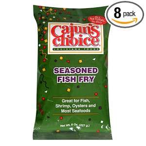 Cajuns Choice Fish Fry Seasoning, 8 Ounce Packages (Pack of 8)