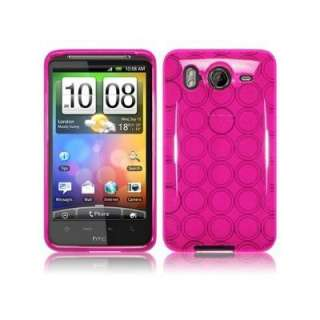 HOT Pink Circle TPU Crystal Silicone Case for HTC Inspire 4G / Desire