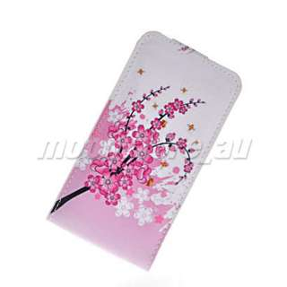 NEW FLOWER STYLE LEATHER FLIP POUCH CASE COVER FOR SAMSUNG I9100