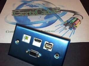 HDMI + USB + CAT6 RJ45 CUSTOM STAINLESS STEEL WALL PLATE HDTV 3D TV