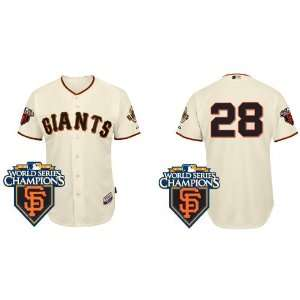 Wholesale New San Francisco Giants #28 Buster Posey Cream