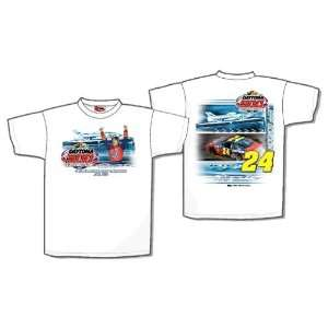 NASCAR Jeff Gordon #24 Daytona 500 Champion White Adult Medium Size T