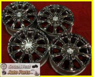 11 BUICK LUCERNE 17 CHROME 10 SPOKE TAKE OFF WHEELS OEM RIMS SET 4091