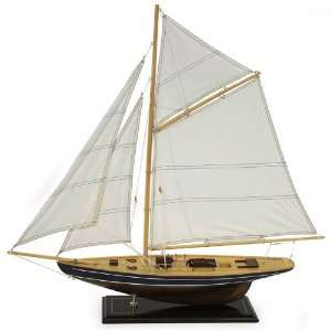30 Realistic Nautical Wooden Sailboat Model Table Accent