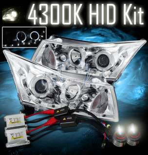 4300K HID 11 12 Chevy Cruze Twin Halo Ring Projector LED Chrome