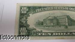 US 1934 D 1934D $10 TEN DOLLAR BILL SILVER CERTIFICATE SMALL NOTE BLUE