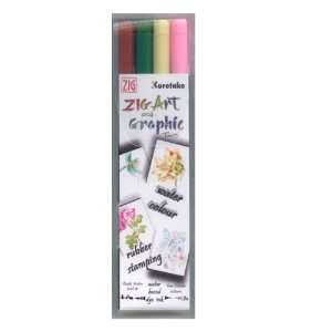 ZIG Art and Graphic Twin Marker 4 Piece Set Autumn Colours