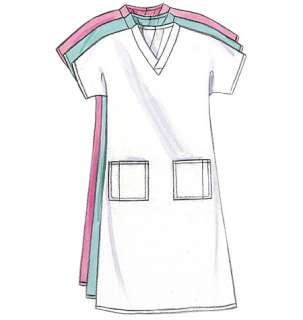 B4946 Butterick 4946 Uniform Dress Belt Top Skirt Pants Hat Dr Nurse