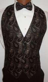 Copper Paisley Tuxedo Vest / Tie Prom Wedding Formal
