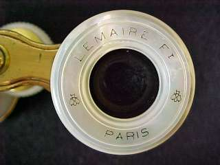 1920s Lemaire Paris Opera Glasses Brass Moher of Pearl |