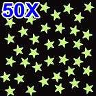 50X GLOW IN THE DARK COLOR STARS BABY KIDS ROOM WALL NURSERY GOOD GIFT