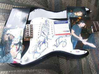 RARE ALICE IN CHAINS WHOLE BAND SIGN GUITAR X4 PSA DNA
