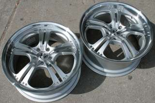 RVM 587 20 SILVER RIMS WHEELS BENZ E420 E500 STAG