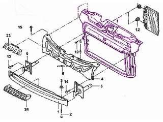 VW Beetle 1.8/2.0 CONV Radiator Support bracket OEM new mount mounting