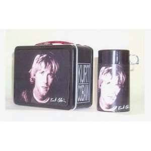 Kurt Cobain Nirvana Metal Lunch Box with Thermos Home