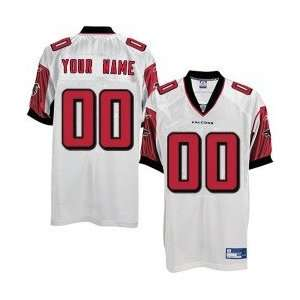 Reebok NFL Equipment Atlanta Falcons White Authentic Customized Jersey