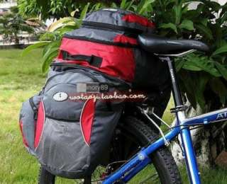 65L Cycling Bicycle Bag Bike rear seat bag pannier + Backpack