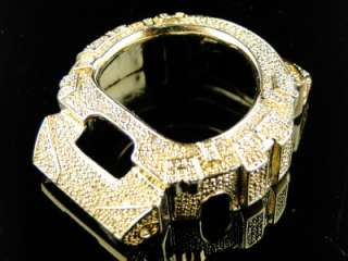 SHOCK/GSHOCK MENS WHITE DIAMOND GOLD COLOR METAL BEZEL 6900