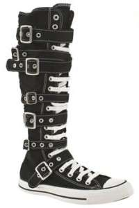 CONVERSE~BUCKLE CHUCK~Knee High~BLACK~All Sizes!~New