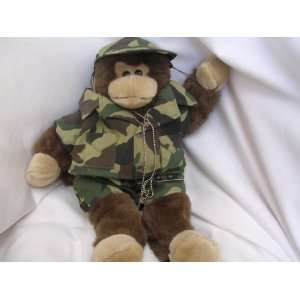 Monkey Military Camouflage Plush Toy Collectible 15
