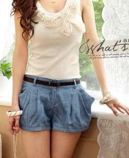 wholesale Pure Color Short Pants Blue