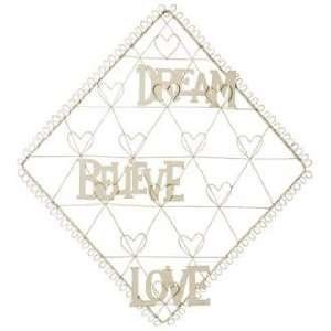 Diamond with Hearts Dream, Believe, Love Card Holder