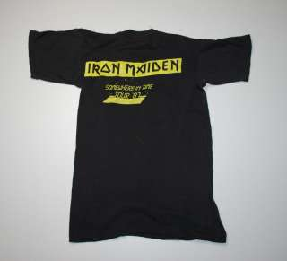 VTG IRON MAIDEN SOMEWHERE IN TIME TOUR SHIRT 1987 S