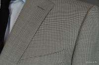 2900 New Ermenegildo Zegna Black/White Gray Houndstooth 46L 46 Wool