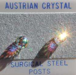 8mm 3/8 inch Austrian Crystal AB Facet Disco Ball Stud Earrings