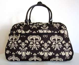 20 Duffel/Tote Bag Rolling Luggage Wheel Purse Upright Travel Brown