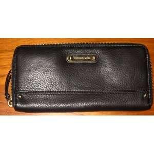 Michael Kors Black Zip Around Carry All Genuine Leather