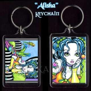 Candy Rainbow Parrot Fairy Art Keychain Faerie Alisha