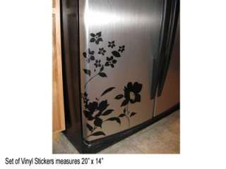 FRIDGE FLOWERS Wall Lettering Decals Lettering Stickers Art