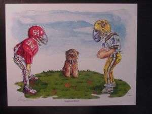 Alabama Crimson Tide/LSU Tigers Backyard Rivalry Print