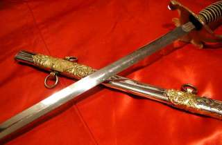 BEAUTIFUL GOLD PLATED ORNATE Antique ODD FELLOWS SWORD High Quality